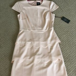 NWT Vince Camuto Short Sleeve Scallop Size 2 Dress